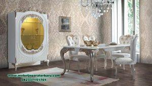 set meja makan 6 kursi mewah modern bringel smm-444