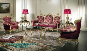 sofa ruang tamu model klasik ukir gold sst-455