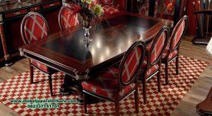 Model set meja makan liliana mahoganny mewah Smm-448