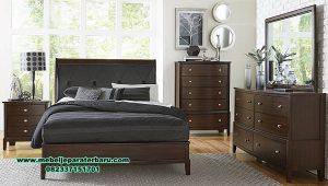 Set tempat tidur Jepara modern minimalis jati solid Stt-301